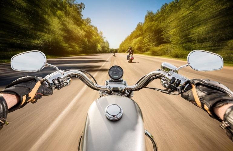 Мотоциклист-новичок