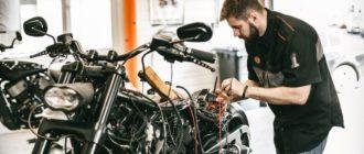 Зарядка аккумуляторной батареи мотоцикла на 12 вольт